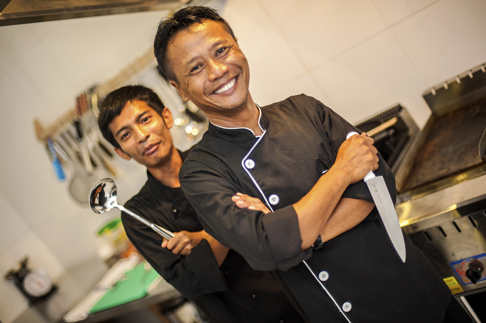 Gili Teak kitchen staff